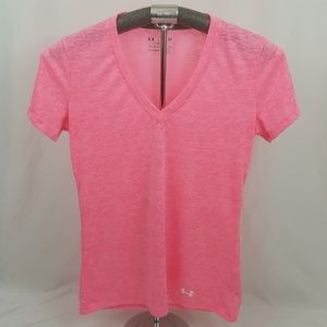 Under Armour Semi Fitted Heat Gear V Neck Tee